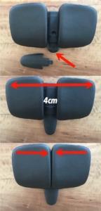 Das Bild zeigt die Einstellmöglichkeiten des Point Vari Comfort Sattels