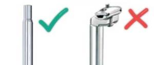 Das Bild zeigt eine Sattelkerze und eine Patentsattel-Klemmung
