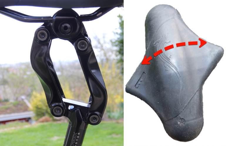 Das Bild zeigt den Aus- oder Einbau des Elastomers bei der Thudbuster LT G4